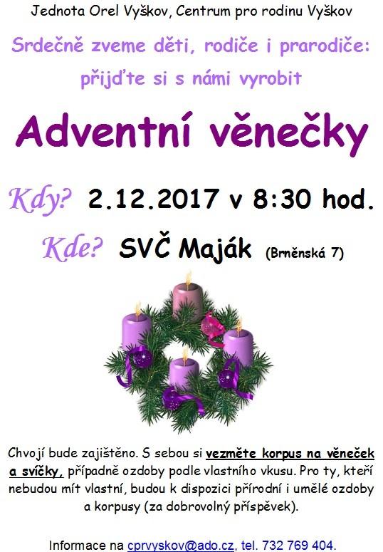 Adventni venecky 2.12.2017