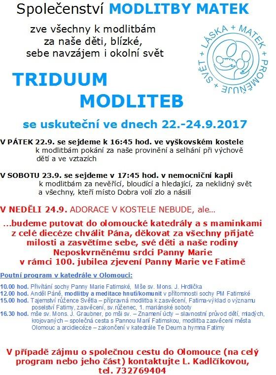 Triduum 9-17