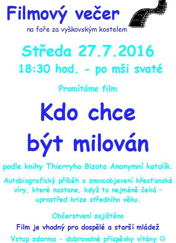 Filmovy vecer 27.7.2016